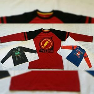 New bundle of 3 Boys Superhero LongSleeve Shirts